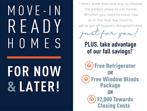 Save BIG on our Available Homes!